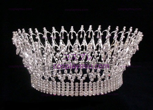 Rhinestone Crown Silver-CT003