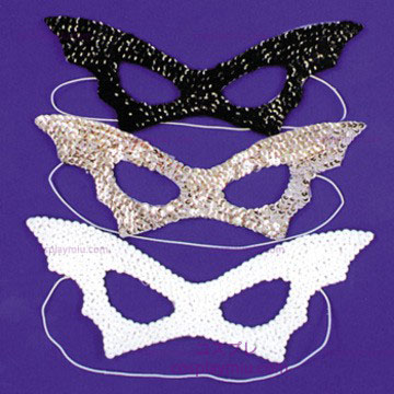 Bat Mask,Sequin,Black