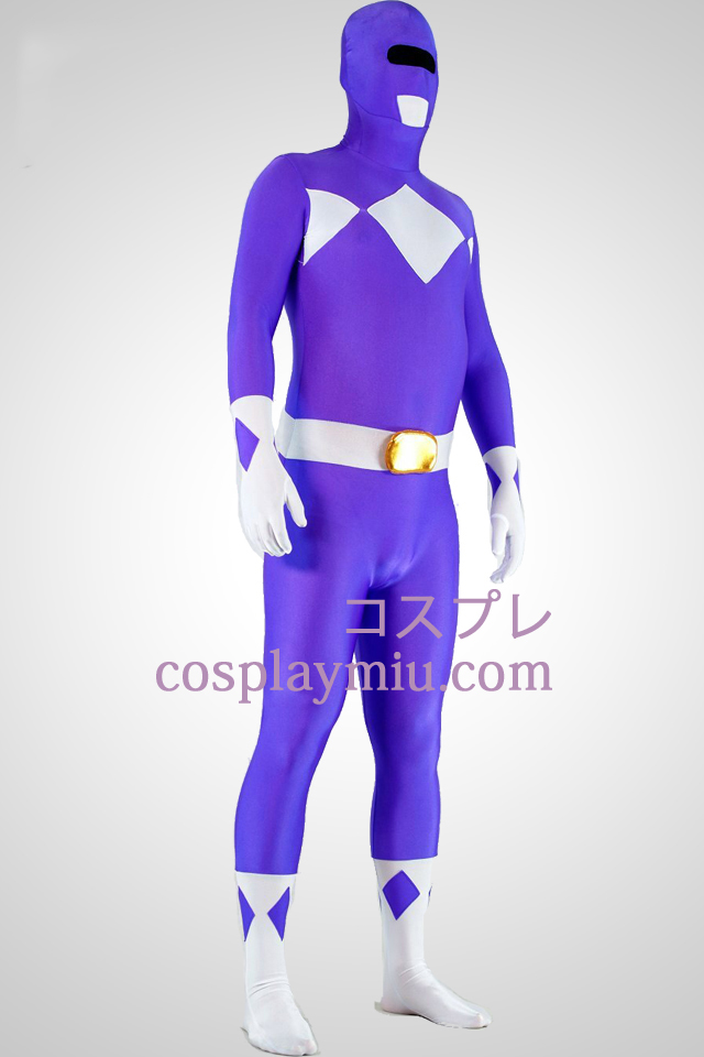 Mighty zentaiin Purple Ranger Lycra Spandex Superhero Zentai Suit
